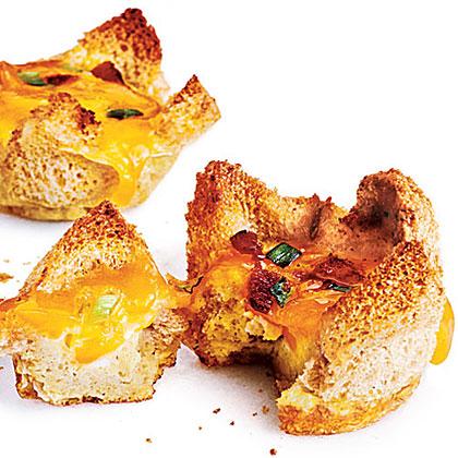 تارت تخم مرغ و بیکن