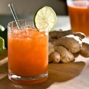آب هویج و زنجبیل