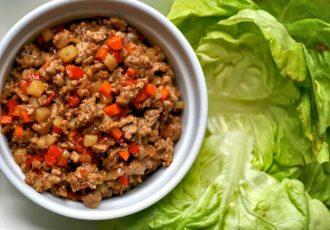خوراک گوشت گوساله و کره بادام زمینی