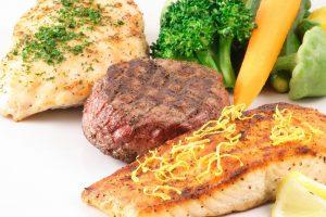 مرغ، گوشت و ماهی