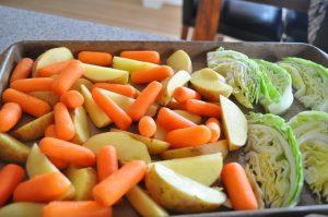 کلم، سیب زمینی و هویج