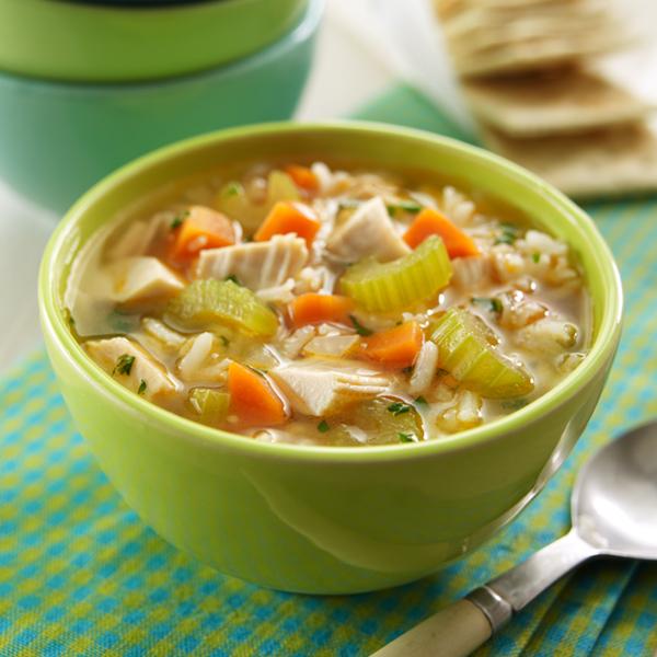سوپ مرغ و برنج