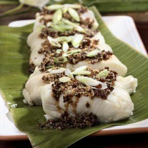 ماهی بخارپز زنجبیلی با سس مخصوص معروف به هانا