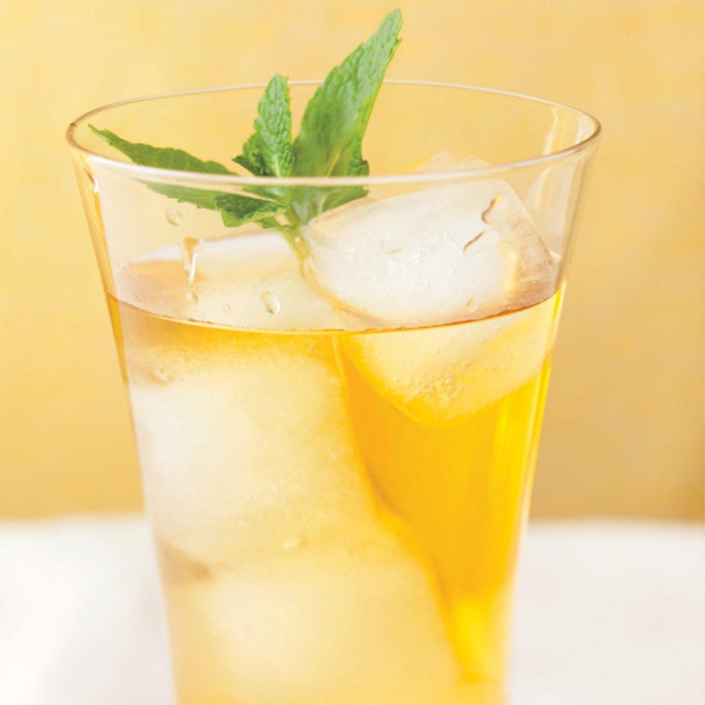 آیس تی چای سبز زنجبیلی لیمویی
