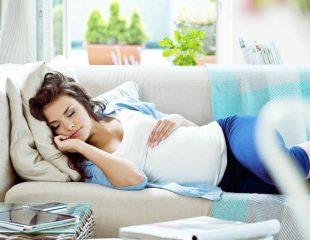 حالت خوابیدن در دوران بارداری