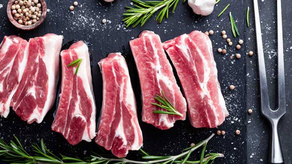 3 . گوشت نپخته، خام یا فرآوری شده