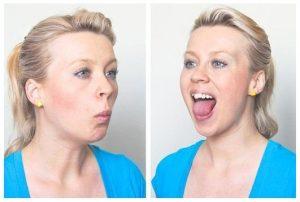 4 . تمرین بازو بسته کردن دهان