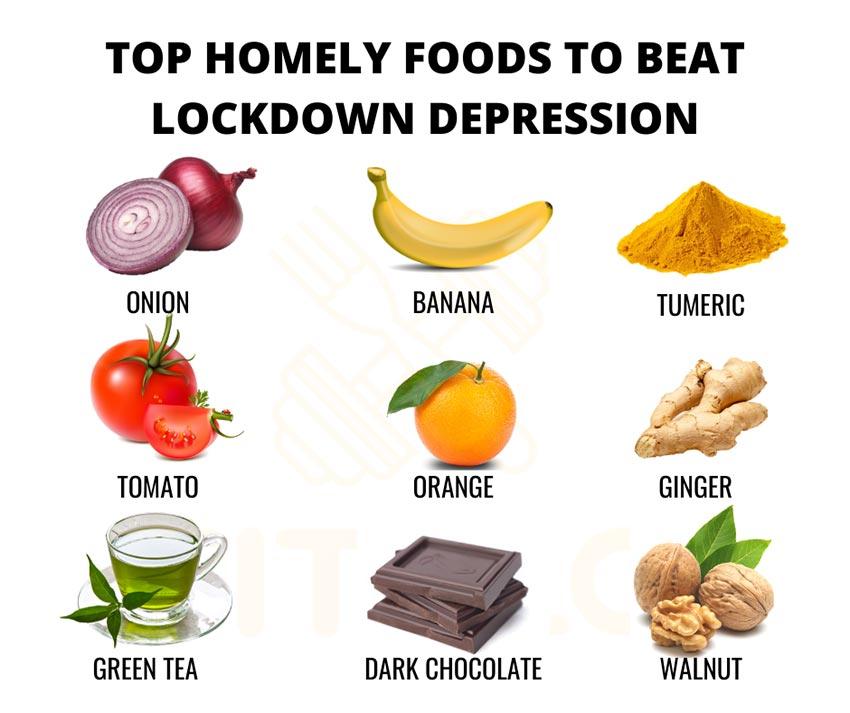 غذا های مناسب برای مقابله با افسردگی